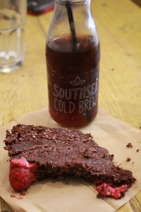 Southsea Cold Brew & raw chocolate cake