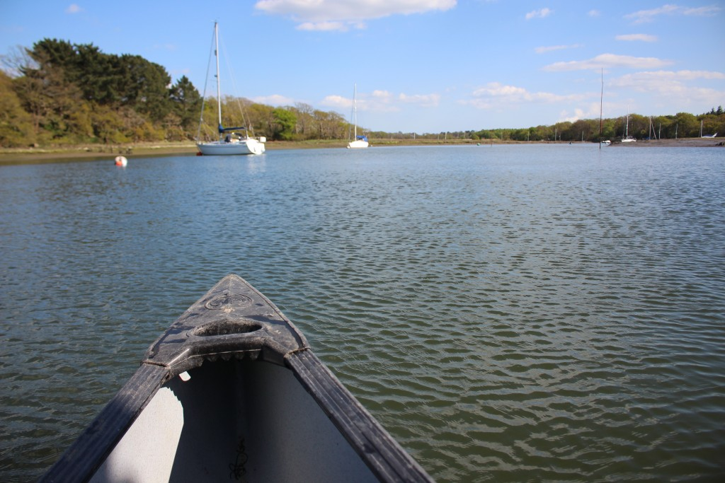 Canoeing down Beaulieu River in the New Forest