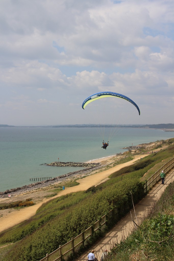Paragliding along the New Forest coast