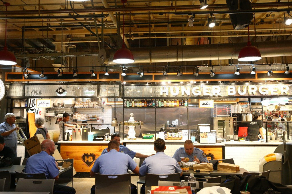 The lunch crowd at Reading Terminal Market. Photo courtesy of Jim McWilliams for PHLCVB.