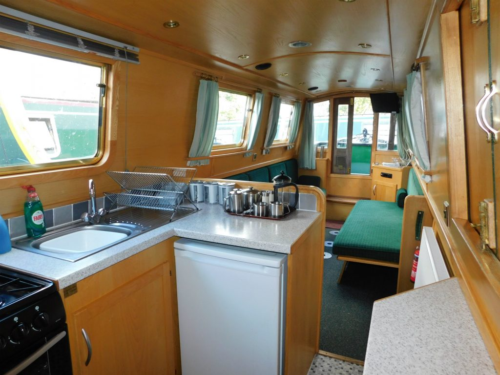 Narrowboat interior, Drifters Waterway Holidays