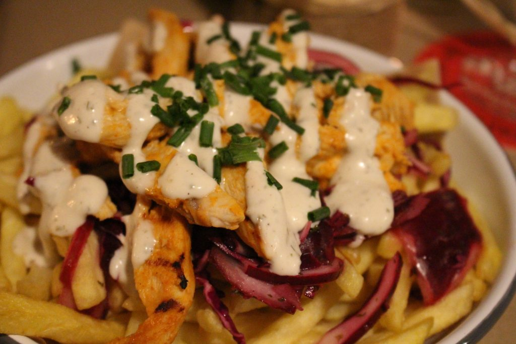 Buffalo chicken topped fries at Sisters Cafe, Marmion Road, Southsea