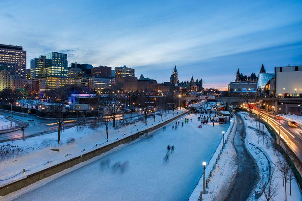 World's longest skateway on The Rideau Canal, Canada